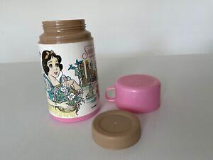Vintage 80s 90s Aladdin Disney Snow White Thermos Flask & Cup Kids Size 227ml