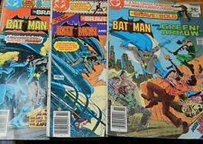 Bat Man Lot of three 1980 The Brave and the Bold #166,167 &168