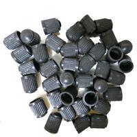 50Pcs Car Wheel Tire Valve Air Dust Cover Stem Cap Plastic Auto Truck Caps Black