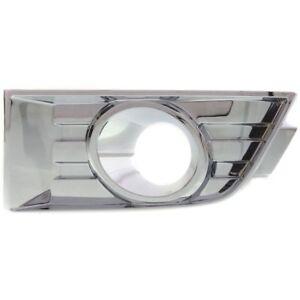 NEW LH Front Driver side Bumper Fog light Bezel Cover Chrome for 07-10 Ford Edge