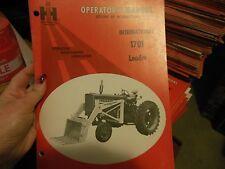 IH International 1701 Loader Operators Manual NEW