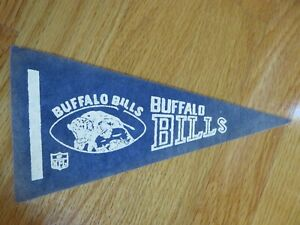 "Late 1960-70s BUFFALO BILLS 9"" Mini Football Pennant"