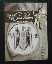 "1958 J I CASE ""MODEL 420 MOUNTED 2 ROW CORN PICKER"" SALES CATALOG BROCHURE NICE"