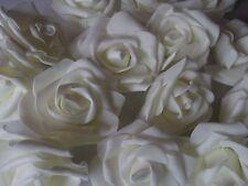 16 EDLE FOAM - ROSEN , ROSENBLÜTEN CREME - VANILLE  ! Blüte 7 cm ! DEKO HOCHZEIT