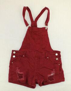 Iris Jeans Los Angeles Junior Women's Bib Overall Shorts Size Medium Distressed
