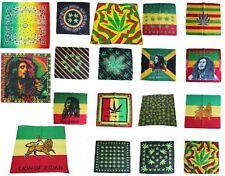 Rasta Bob Marley Reggae Jamaica Marijuana Bandana Head wrap durag Leaf Scarf
