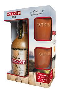 Original Behn Wikinger Met Honigwein 11,0% Vol., 0,5 Liter + 2 Tonkrüge Geschenk