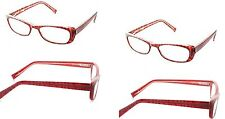 4 Pairs Foster Grant Jackie Cats Eye Red Wine Reading Glasses +1.00 Strength