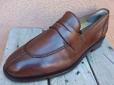 BOTTICELLI Mens Dress Shoes Elegant Mahogany Italian Penny Loafer Casual Sz 8.5M