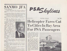 PSA Pacific Southwest Airlines Skylines Employee Newspaper July 1962 Vol. 10 No.