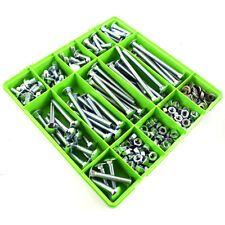 324 Assorted M12 Zinc Cup Square Carriage Bolt Coach Screw Washers Full Nuts Kit
