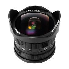 7artisans 7.5mm f/2.8 APS-C Fisheye Fixed Lens (Black) for Sony E-Mount Cameras