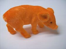 Flocked Pig Figure (Orange) - This Little Piggy is SO CUTE!