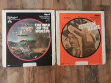 Vintage CED Videodisc LOT-Citizen Kane, The War of the Worlds-Orson Welles-RARE!