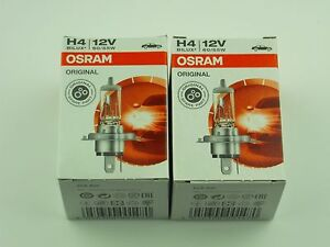 Halogen Headlight Globes OSRAM H4,12 Volt, 60/55w, (pair) German Quality