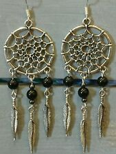 Onyx Handmade Silver Plated Costume Earrings