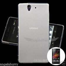 White Matte Finish Slim Soft Case for Sony Xperia Z C6603 C6602 L36h L36i