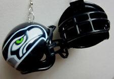 NORA WINN BIG UNIQUE SEATTLE SEAHAWKS 925 HOOK EARRINGS NFL FOOTBALL HELMET
