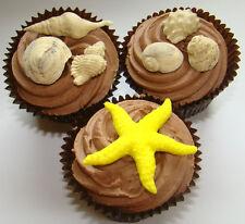 Stampo in Silicone Conchiglie di Mare Stella di mare spiaggia wedding cake cupcake SUGARCRAFT FIMO PMC