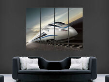 BULLET TRAIN JAPAN FAST ART IMAGE  WALL LARGE PICTURE POSTER GIANT