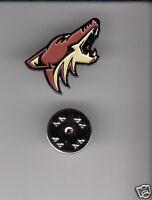 ARIZONA COYOTES Phoenix Hockey Team Logo METAL HAT LAPEL PIN New Sealed Mint