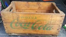 RP2431 Vintage Coca Cola Coke Soda Pop Wood Wooden Crate Case w/ Green Lettering