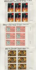 Dominica Stamp Blocks on old approval cards