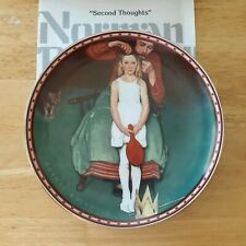 Second Thoughts Norman Rockwell collectors plate A Mind of Her Own Girlhood