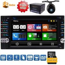"Double 2 Din GPS FM AM Car Radio Stereo DVD Player 6.2"" Touchscreen Bluetooth SD"