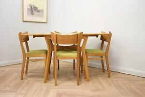 DELIVERY £80 Mid Century Drop Leaf Oak Dining Table & 4 Dining Chairs G Plan