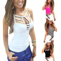 NEW Sexy Women Summer Vest Top Sleeveless Blouse Casual Tank Tops T Shirt S-XXL