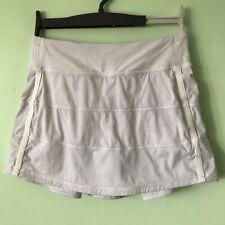 Lululemon Pace Rival Skirt Size 4 White Skort Pleated Built In Shorts READ