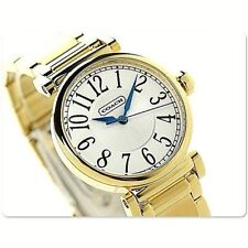 NWT Coach Women's Watch Yellow Gold Bracelet SS 32MM. MADISON 14501724 $275