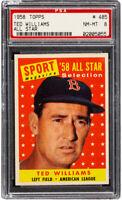 1958 Topps Ted Williams All-Star #485 HOF PSA 8 - Centered