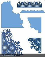 Heartfelt Creations Die Set FLEUR BORDERS AND POCKETS Edges, Flipfold ~HCD1-778