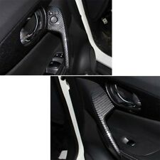Carbon Fiber Style Inner Door Armrest Cover Trim For Nissan Rogue X-Trail 14-18