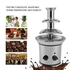 Stainless Steel 3-Tier Mini Fondue Fountain, Chocolate, Carmel Cheese Tower VIP