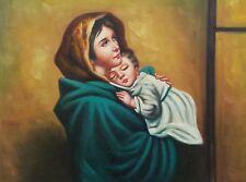 Dipinto Olio su Tela - 30x40 cm - Madonnina- Quadro Arte Sacra Ferruzzi Madonna