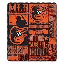 """Baltimore Orioles License Fleece Throw Blanket 50"""" x 60"""" Baseball League"""