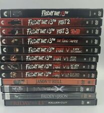 Friday the 13th Collection Deluxe Edition DVDs w/ Rare OOP Lenticular Slipcovers