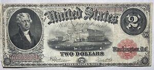 1917 $2 Large Size Legal Tender Red Seal Speelman/White
