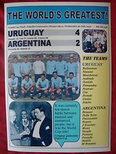 Uruguay 4 Argentina 2 - 1930 World Cup Final - souvenir print