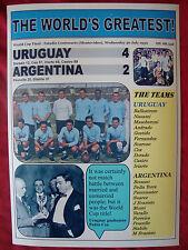 Uruguay 4 Argentina 2 - 1930 World Cup Final - souvenir print