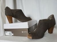 Giani Bernini Womens Alanny Perforated Booties Heels Dark Taupe Sz 9 Memory Foam