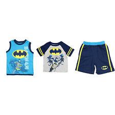 DC Comics Toddlers 3 Piece Tank, T-Shirt, and Shorts Clothing Set, Batman