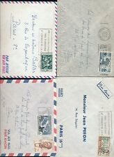 FRENCH GUINEA SLOGAN MACHINE CANCELS 4 ENVELOPES AIRMAIL 1955-57