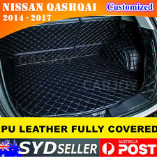 Fully Cover Leather Car Rear Trunk Boot Liner Protector Cargo Mat Nissan Qashqai
