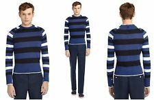 Black Fleece Brooks Brothers by Thom Browne Blue Sweater Small Size BB0 XS $450
