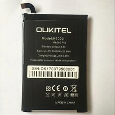 New Oukitel K6000 Pro Battery 6050mAh  Li-ion Battery High Quality