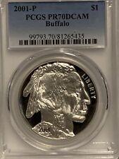 2001-P American Buffalo Silver Dollar  PCGS PR70DCAM